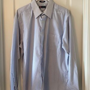 Chaps long sleeve striped dress shirt.